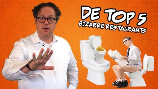 Eten uit een toiletpot of toch dineren tussen de vissen? In De Top 5 van deze week bespreekt Maarten Wessels de meest bizarre restaurants ter wereld.
