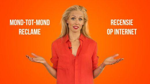 Presentatrice Carien Keizer legt de kijker een lastige keuze voor met betrekking tot de horeca. Liever mond-tot-mond reclame of lovende internet recensie?