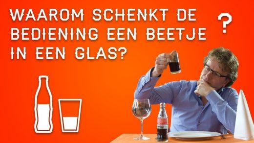 Zit je ergens in een cafeetje of restaurant en bestel je een drankje en dan schenkt de bediening het glas altijd halfvol. Waarom is dat toch?